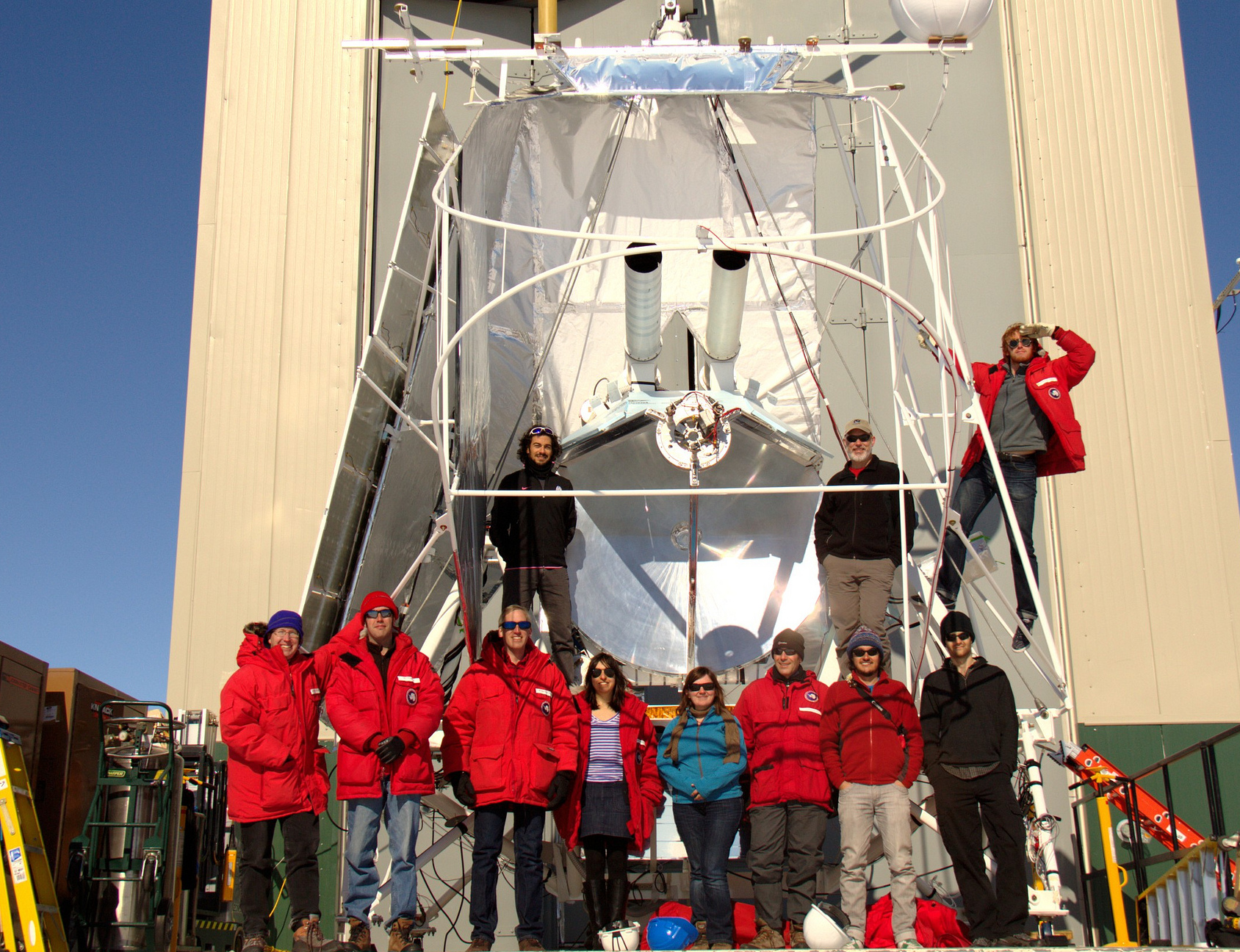 The BLASTpol team in McMurdo, 2012