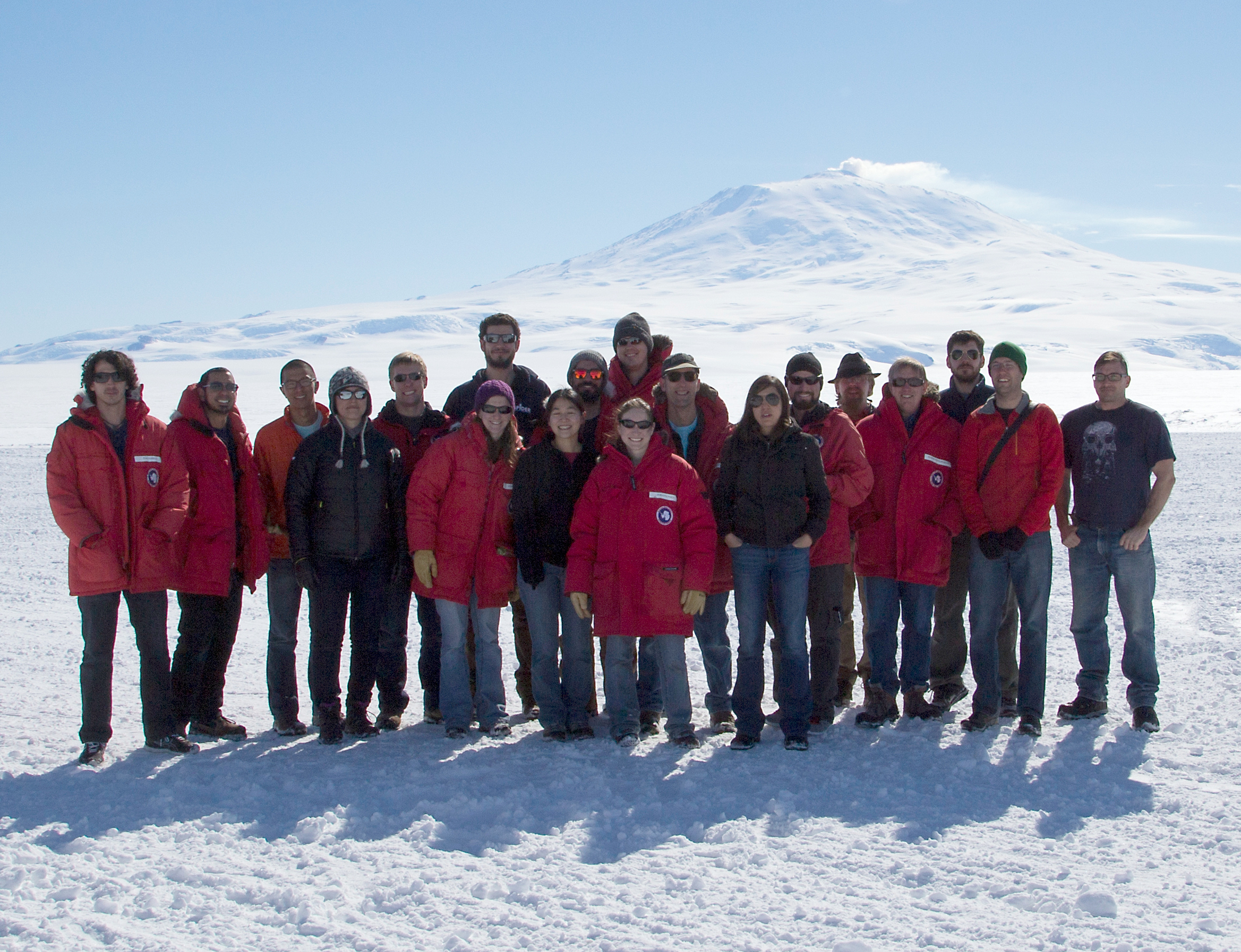 The Spider team in McMurdo, 2014