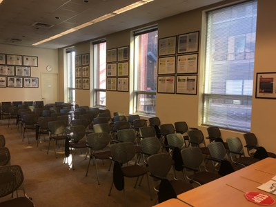 Auditorium view (podium right)